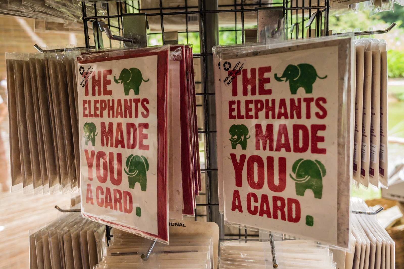 elephant poo card