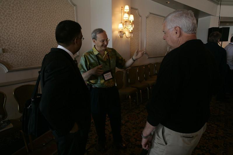(L-R) Rajeev Chand, Rutberg & Co.; Justin Rattner, Intel; and Rick LeFaivre, OVP Venture Partners