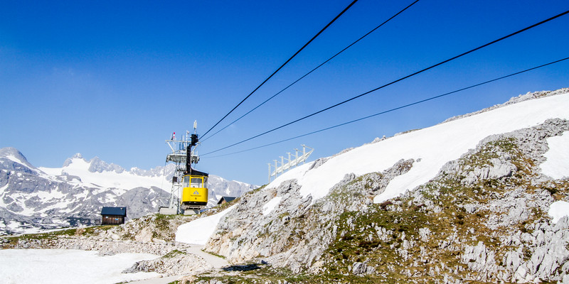Walking above the Krippenstein cable car in Obertraun