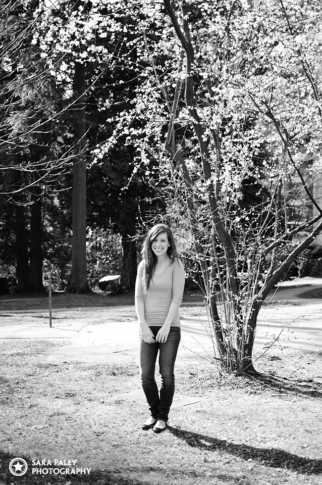sunny day Burnaby park portraits with Candace