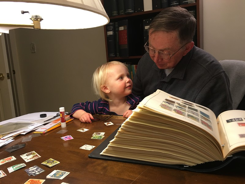 20160304 037 Kate helps Grandpa with stamps.JPG