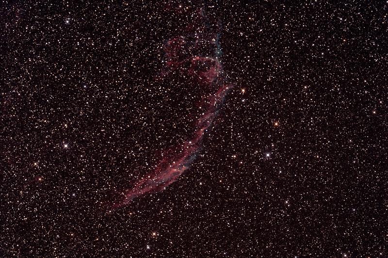 Caldwell 33 - NGC6992/5 + IC1340 - Eastern Veil Nebula in Cygnus  - 22/9/2014 (Processed stack)