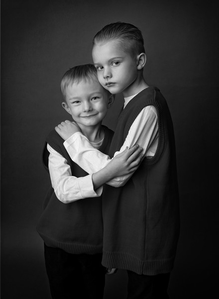 Mason and Ethan BW.jpg