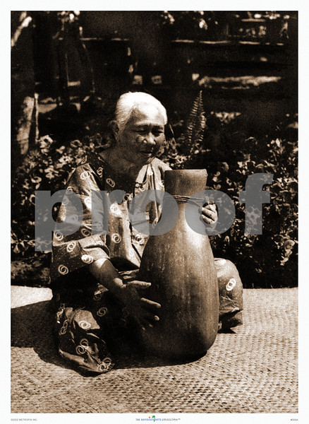 305: 'Old Woman with Gourd' Photograph. Ca. 1926. (PROOF watermark will not appear on your print)