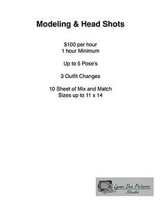 Modeling & head Shots