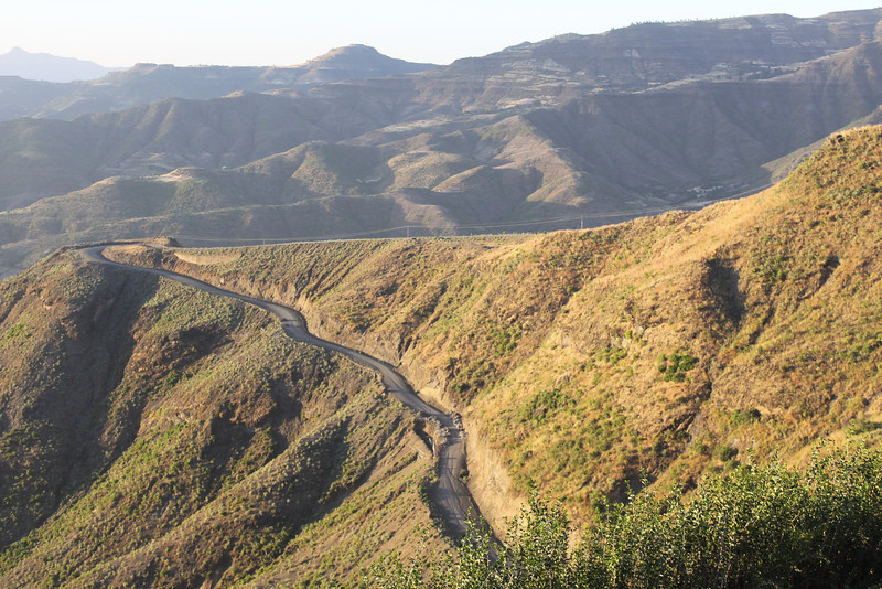 road down from Lalibela at 8,626'