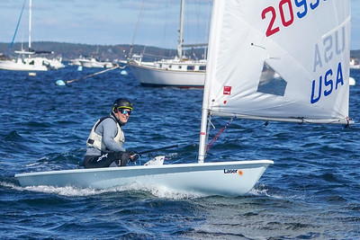 Laser racing in Marblehead Sunday October 21, 2018