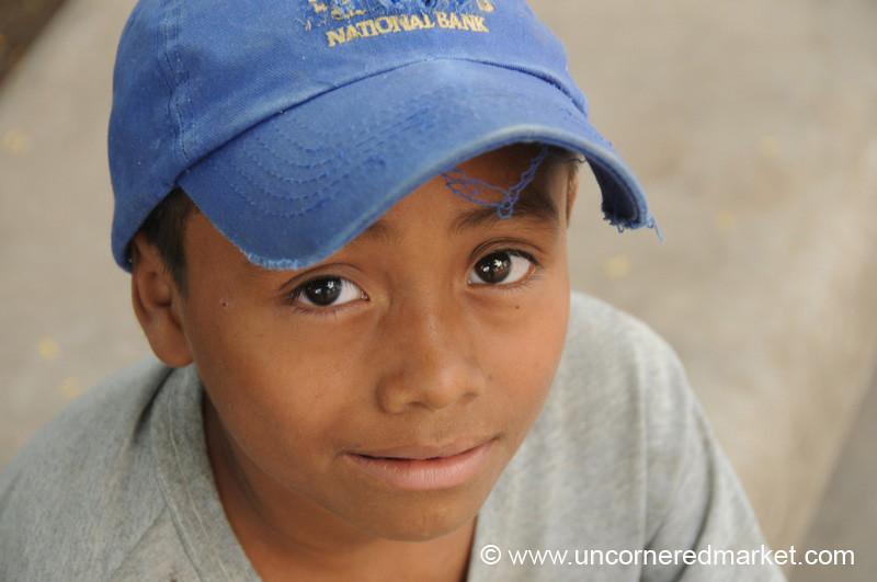 Honduran Boy, Baseball Cap - Copan Ruinas, Honduras