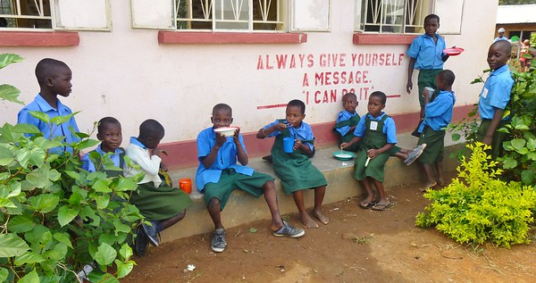 Abayudaya volunteers and visitors - Uganda