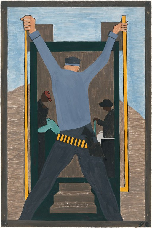 "Jacob Lawrence, ""The Migration of the Negro No. 42"" (1941)"