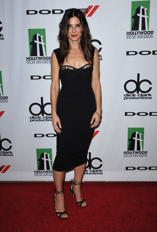 . Sandra Bullock arrives at the 17th Annual Hollywood Film Awards Gala at the Beverly Hilton Hotel on Monday, Oct. 21, 2013, in Beverly Hills, Calif. (Photo by John Shearer/Invision/AP)