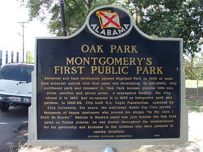 OAK PARK - MONTGOMERY, ALABAMA