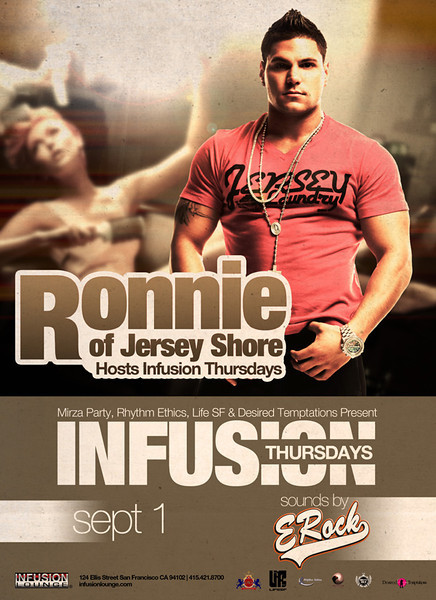 Jersey Shore's Ronnie hosts Infusion Thursdays 9.1.11