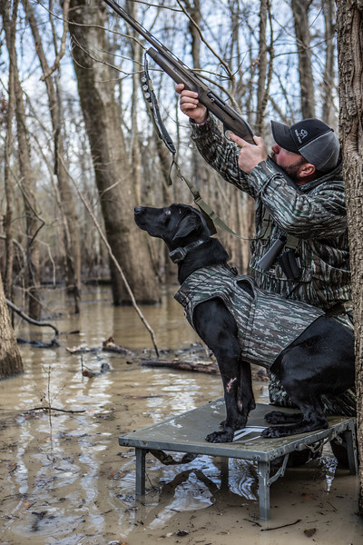 Mo and Brad hunting the flooded timber of Arkansas.