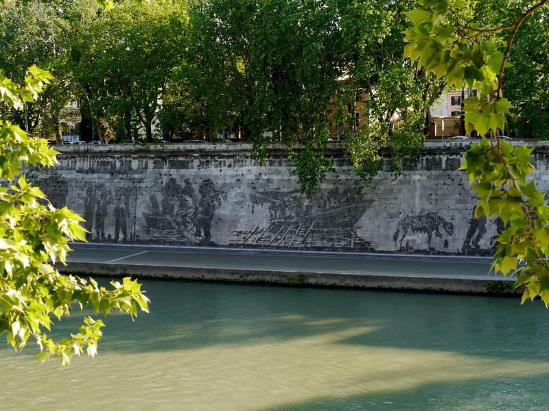 Artwork along the Tiber