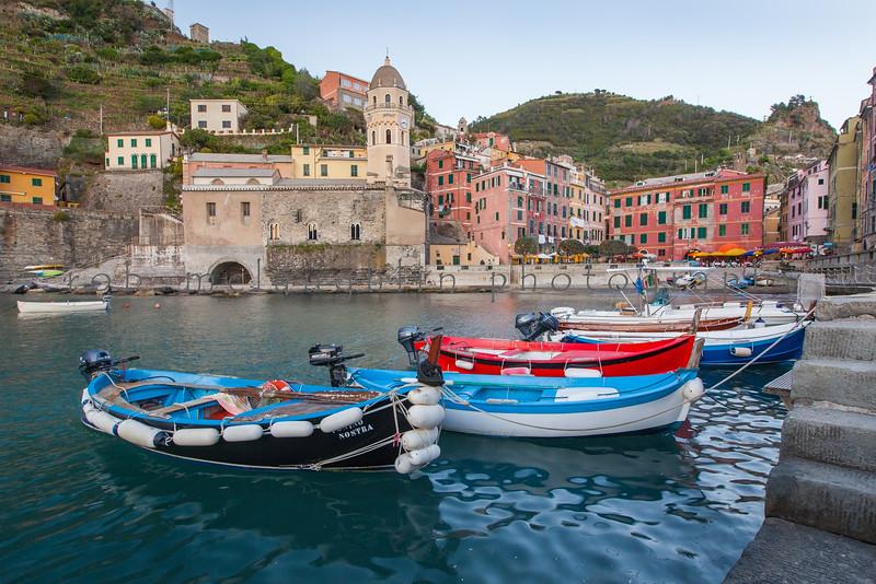 Boats in Harbor , Vernazza , Cinque Terre