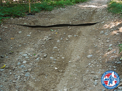 Water Bar Repair on Hanglider Hill Trail (July 2015)