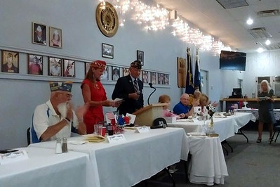 June - Installation of officers at Post 58