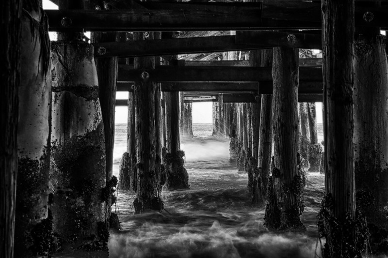 Under the Pier. Crystal Pier, San Diego Ca.