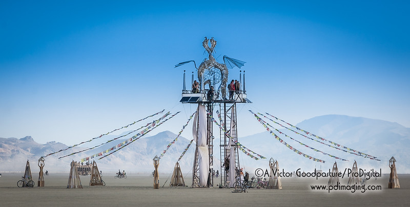 The beautiful Tower of Ascension offers a 360-degree view of the playa.