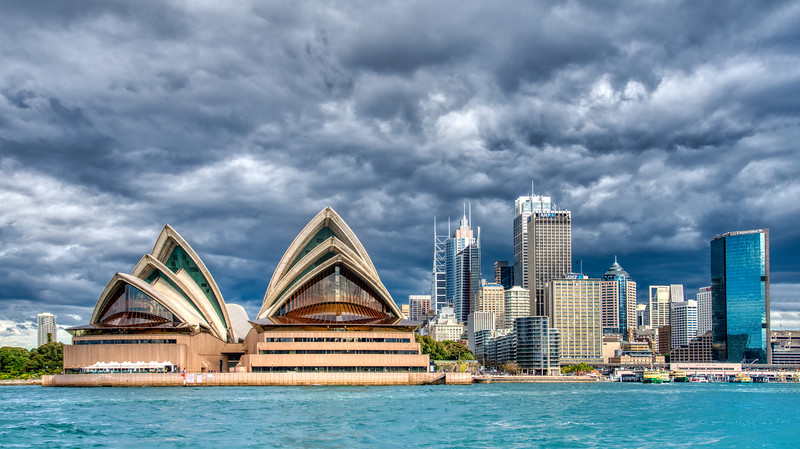 The Sydney Opera House Before the Storm
