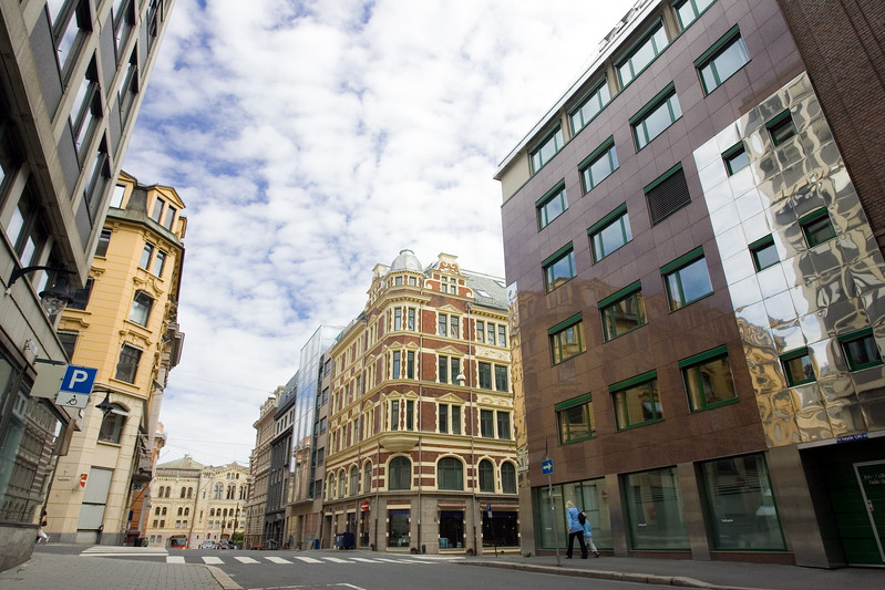 Modern and classical architecture in Oslo
