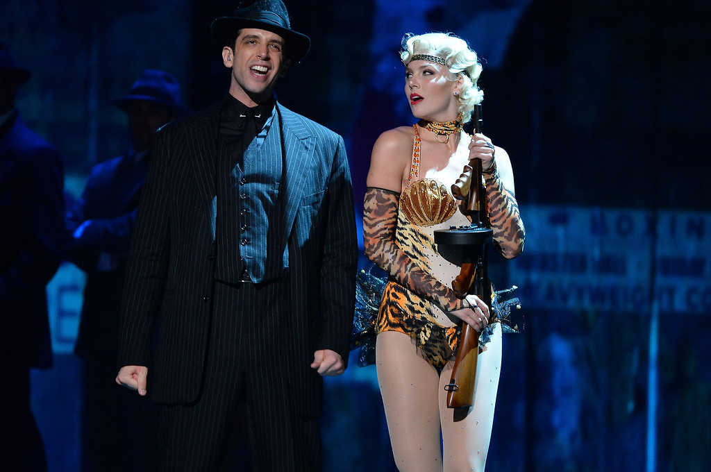 . Nick Cordero and Helene Yorke and the cast \'Bullets Over Broadway\' perform onstage during the 68th Annual Tony Awards at Radio City Music Hall on June 8, 2014 in New York City.  (Photo by Theo Wargo/Getty Images for Tony Awards Productions)