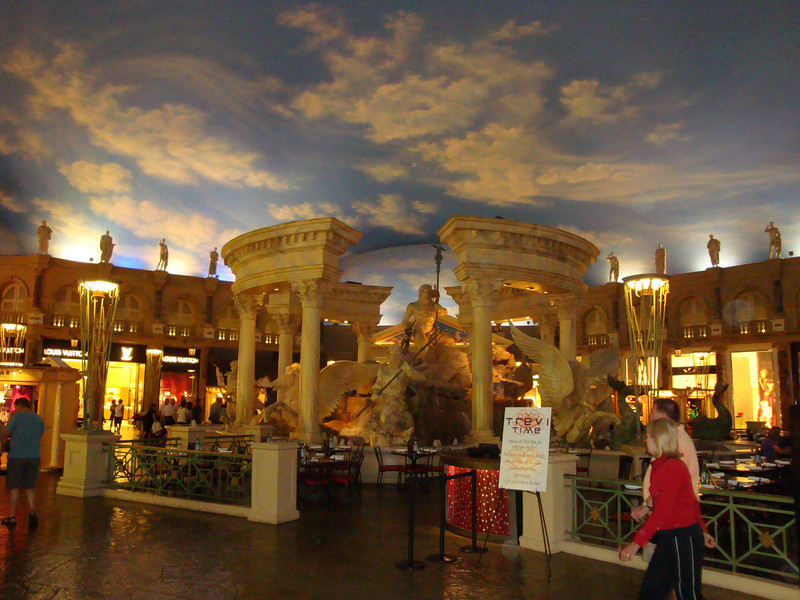 One of the many restaurants inside the Venetian.
