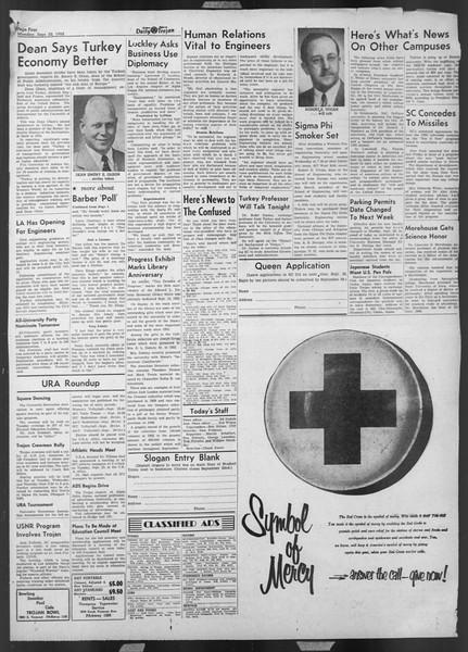 Daily Trojan, Vol. 44, No. 6, September 22, 1952