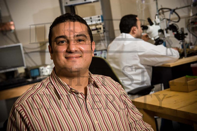 15224 Neuroscience Researcher Sherif Elbasiouny in his lab 2-19-15