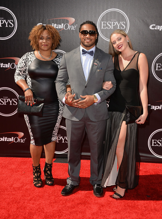 . LOS ANGELES, CA - JULY 16: NFL player Tre Mason with guests attends The 2014 ESPYS at Nokia Theatre L.A. Live on July 16, 2014 in Los Angeles, California.  (Photo by Jason Merritt/Getty Images)