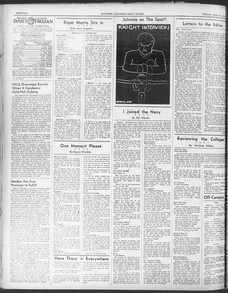 Daily Trojan, Vol. 30, No. 117, April 18, 1939