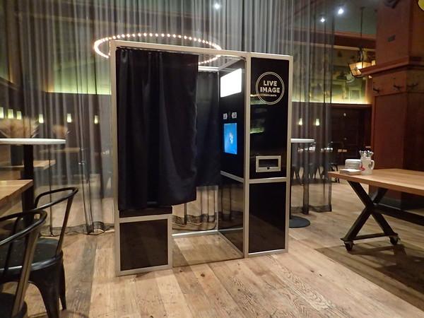 Retro Booth at Restaurant
