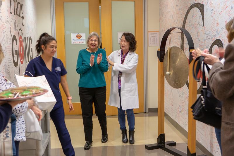 Julie's last proton treatment