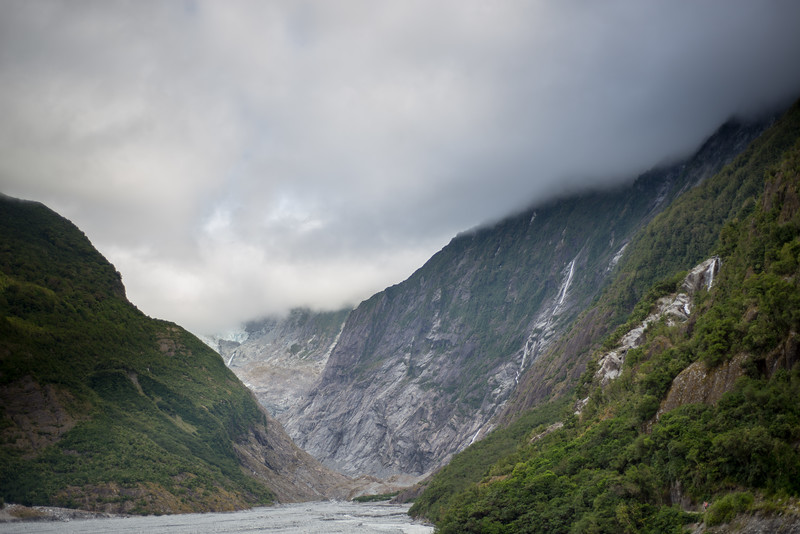 The Franz Josef glacier is up there!