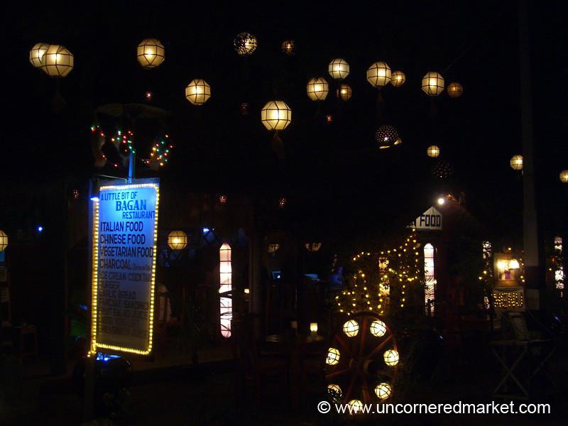 Restaurant Alley - Bagan, Burma