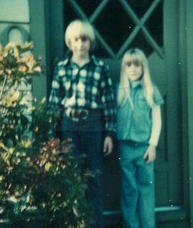 . This undated photo provided by Kim Cobain, Kurt Cobain\'s sister, shows a young Kurt Cobain, left, and Kim in their childhood home in Aberdeen, Wash.  (AP Photo/Courtesy Kim Cobain)