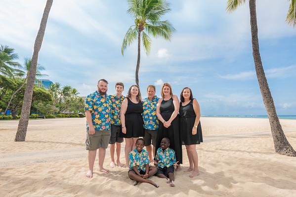 BIG FILES- Pino Family on Waikiki Beach--