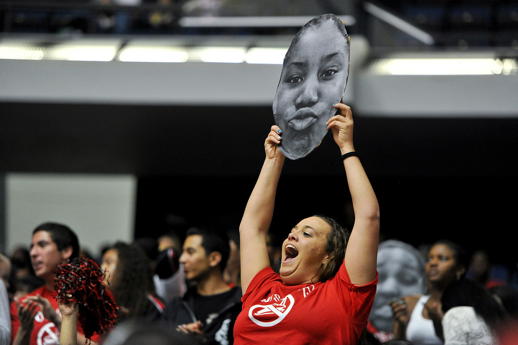 . Etiwanda faces Santiago High School during the CIF-SS Div. I-AA Girls Basketball Championship game at the Anaheim Convention Center on Friday, Mar. 1, 2013.Etiwanda was defeated by Santiago 70-65. (Rachel Luna / Staff Photographer)