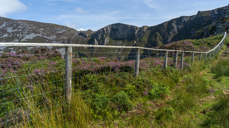 Fence on a hill, Slieve League, County Donegal, Ireland