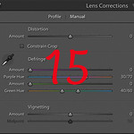 How to use the Manual tab of the Lens Corrections Panel in Adobe ® Lightroom