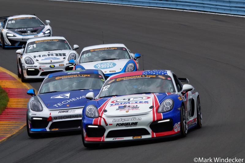 4th GS Trent Hindman / Cameron Cassels Bodymotion Racing Porsche Cayman GT4