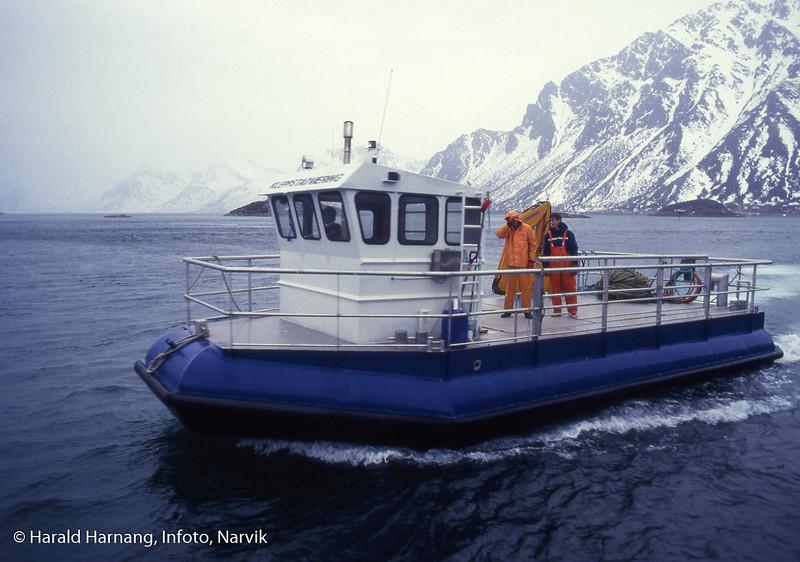 Arbeidsbåt for oppdrettsnæring, båt laget av og hos Namek. (c) Namek.
