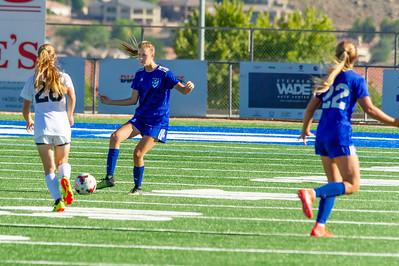 2018-08-28 Dixie HS Soccer vs Desert Hills