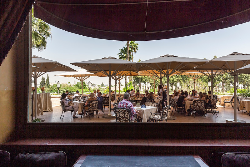 Outdoor restaurant King David Hotel