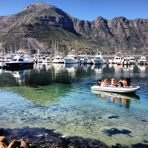 Hout Bay on a clear day, when the water looks like glass. Cape Town #waterporn