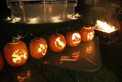 Carved Pumpkins, McAdoo (10-31-2012)