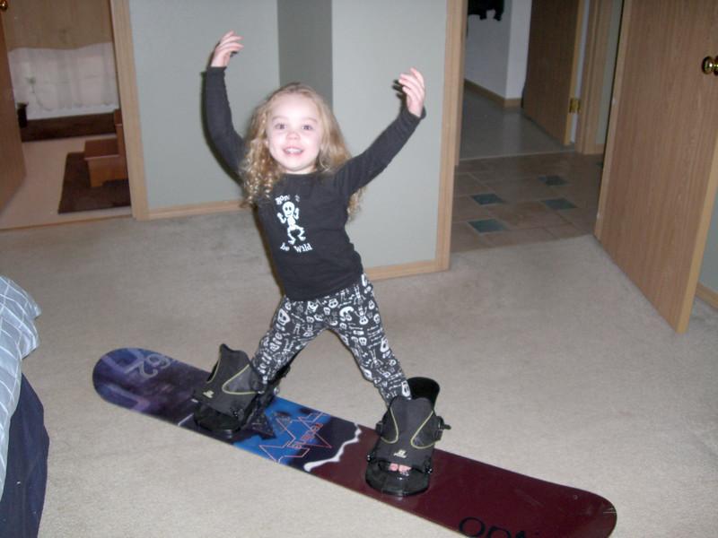Future snowboarder