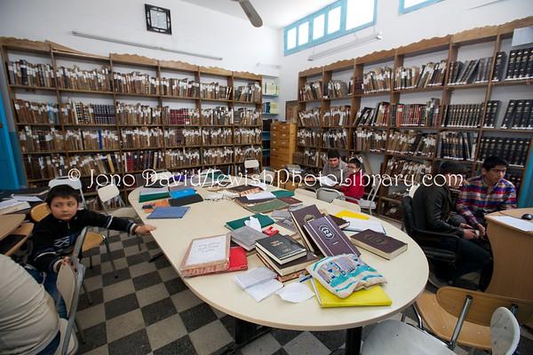 TUNISIA, Djerba, Hara Kebira. Rabbi Shalom Jewish School (3.2016)