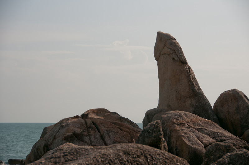 Closer look at rock formation in Ko Samui, Thailand
